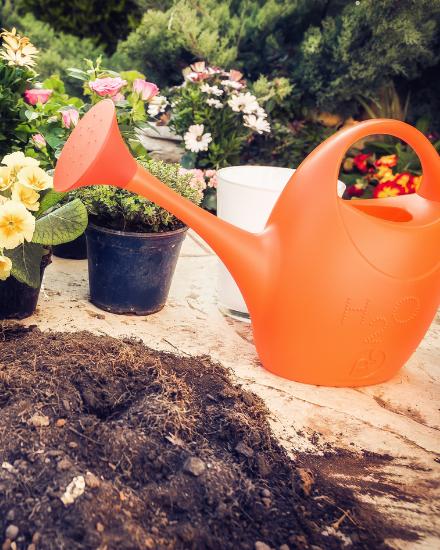 Annaffiatoio arancione Ecoplast